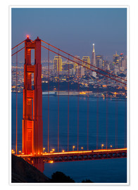 Premium poster  Golden Gate Bridge - Miles Ertman