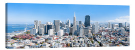 Canvas print  San Francisco skyline in summer - Jan Christopher Becke