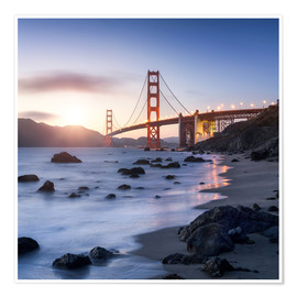 Premium poster  San Francisco Golden Gate Bridge - Jan Christopher Becke