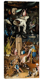 Canvas print  Garden of earthly delights, Hell - Hieronymus Bosch
