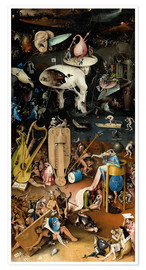 Premium poster  Garden of earthly delights, Hell - Hieronymus Bosch