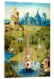 Acrylic print  Garden of Earthly Delights, the paradise (detail) - Hieronymus Bosch