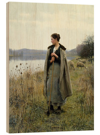Wood print  The Shepherdess of Rolleboise - Daniel Ridgway Knight