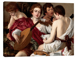 Canvas print  The musicians - Michelangelo Merisi (Caravaggio)