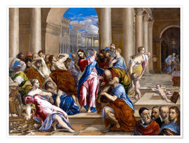Premium poster  Christ expels traders from the temple - Dominikos Theotokopoulos (El Greco)