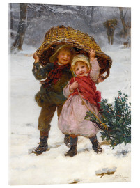Acrylic print  Christmas time - Frederick Morgan