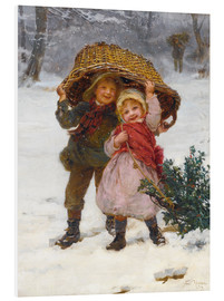 Foam board print  Christmas time - Frederick Morgan