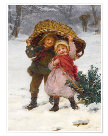 Premium poster  Christmas time - Frederick Morgan