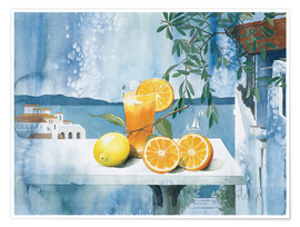 Premium poster  Glass with oranges - Franz Heigl