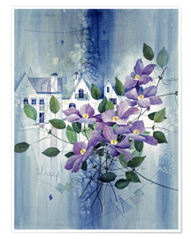 Premium poster View with clematis