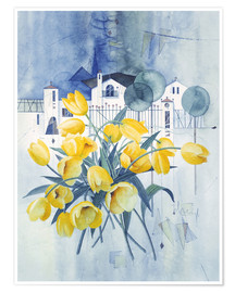 Premium poster  View with tulips - Franz Heigl