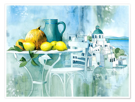 Premium poster  Watercolors from the south - Franz Heigl