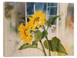 Wood print  Sunflowers - Franz Heigl