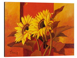 Aluminium print  Two sunflowers III - Franz Heigl