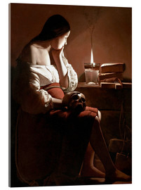 Acrylic print  The Magdalen with the Smoking Flame - Georges de la Tour