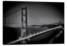 Canvas print  Golden Gate Bridge in the Evening - Melanie Viola
