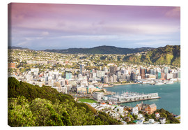 Canvas print  Wellington in the morning, New Zealand - Matteo Colombo
