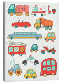 Canvas print  So many cars - Petit Griffin