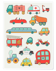 Premium poster  So many cars - Petit Griffin