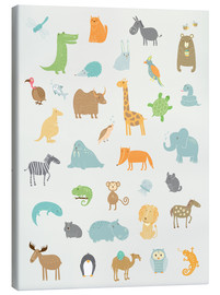 Canvas print  All my zoo animals - Petit Griffin