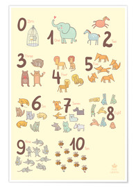 Premium poster  Number of animals - Petit Griffin