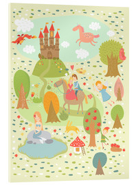 Acrylic print  My favorite fairy tales - Petit Griffin