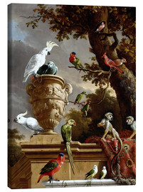 Canvas print  The Menagerie - Melchior de Hondecoeter