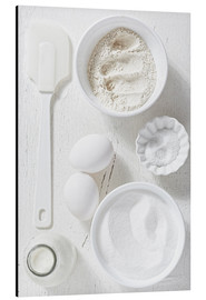 Aluminium print  Country home baking ingredients - K&L Food Style