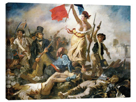 Canvas print  Liberty leading the people - Eugene Delacroix