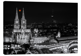 Canvas print  Blutmond over the Cologne Cathedral - rclassen