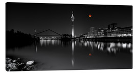 Canvas print  Dusseldorf media harbor with Blutmond - rclassen