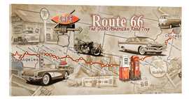 Acrylic print  Route 66 Map - Georg Huber