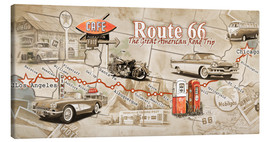 Canvas print  Route 66 Map - Georg Huber