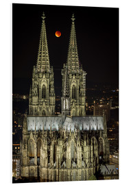 Foam board print  Blood moon shines over Cologne Cathedral - rclassen