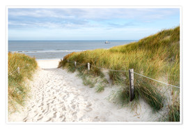 Premium poster  North Sea beach - Hannes Cmarits