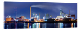 Acrylic print  ArcelorMittal steel mill Bremen - Tanja Arnold Photography
