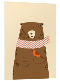 Foam board print  Bear in the fall - Sandy Lohß