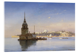 Acrylic print  The Maiden's Tower (Maiden Tower) with Istanbul in the background - Carl Neumann