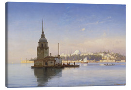 Canvas print  The Maiden's Tower (Maiden Tower) with Istanbul in the background - Carl Neumann