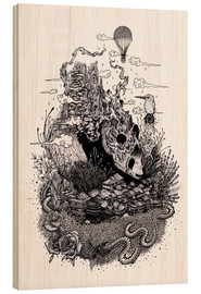 Wood print  Land of the Sleeping Giant (Ink) - Mat Miller