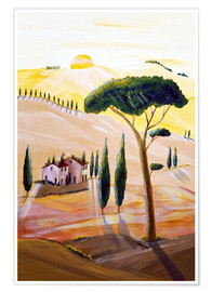 Premium poster Tuscany in the morning