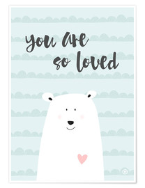 Premium poster  You are so loved - Mint - m.belle