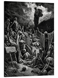 Aluminium print  The Vision of the Valley of the dry Bones - Gustave Doré