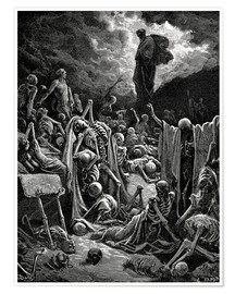 Premium poster  The Vision of the Valley of the dry Bones - Gustave Doré
