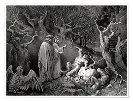 Premium poster  The Inferno, Canto 13 - Gustave Doré