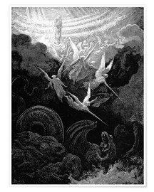 Premium poster  the crowned virgin - Gustave Doré