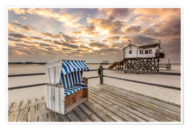 Premium poster  Sankt Peter Ording, Baltic Sea in the Morning - Dennis Stracke