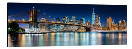 Aluminium print  New York City Skyline with Brooklyn Bridge (panoramic view) - Sascha Kilmer