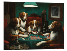 Foam board print  The poker game - Cassius Marcellus Coolidge