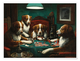 Premium poster  The poker game - Cassius Marcellus Coolidge